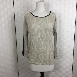 Monteau Gray sweater, black accents, Size S